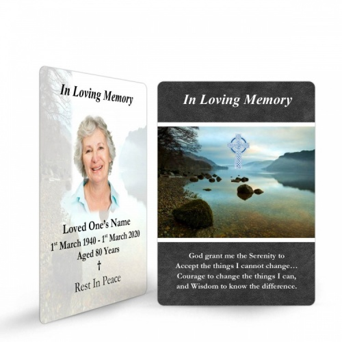 Ireland Lakes Catholic Prayer Cards Holy Wallet Cards In Loving Memory Of Loved One - CEL49