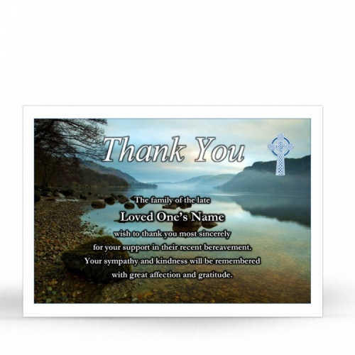 Ireland Lakes Catholic Prayer Cardsl Acknoledgement Cards In Loving Memory Of Loved One - CEL49