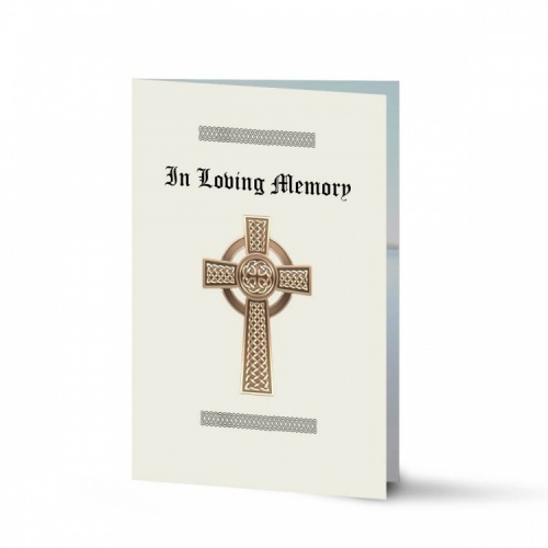 Traditional Celtic Irish Catholic Laminated Religious Funeral Memorial Prayer Cards -CEL51