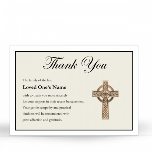 Traditional Celtic Irish Catholic Laminated Religious Funeral Memorial Funeral Notes -CEL51