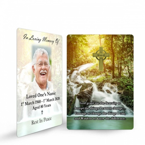 Catholic Irish Prayer Laminated Irish Condolence Remembrance Memorial Prayer Cards - CEL69