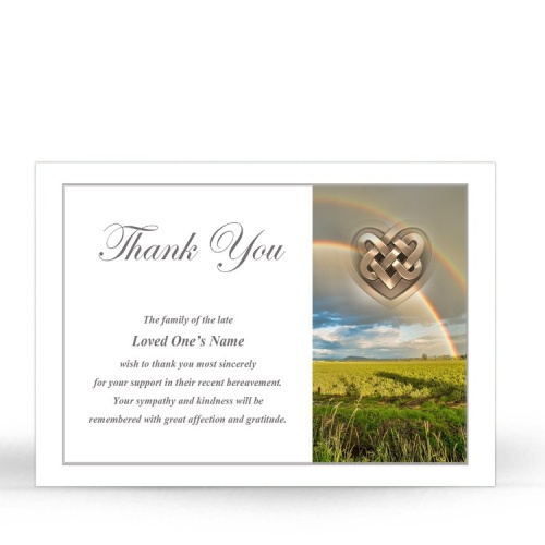 Irish Memorial Thank You Notes Ireland Themes by Memorial Card Shop Dublin Ireland  - CEL74