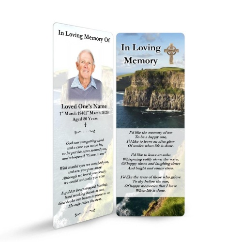 Irish Laminated Memorial Bookmark - CEL78