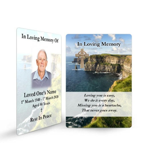Irish Laminated Memorial Wallet Card - CEL78