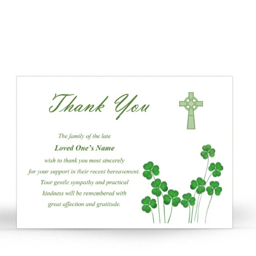 CEL85 Memorial Thank You Card