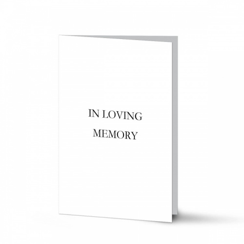 Classic Elegant White Catholic Memorial Folding Memorial Card - CLS01