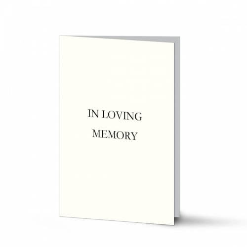 Classic Elegant Cream Catholic Memorial Laminated Folding Memorial Card - CLS02