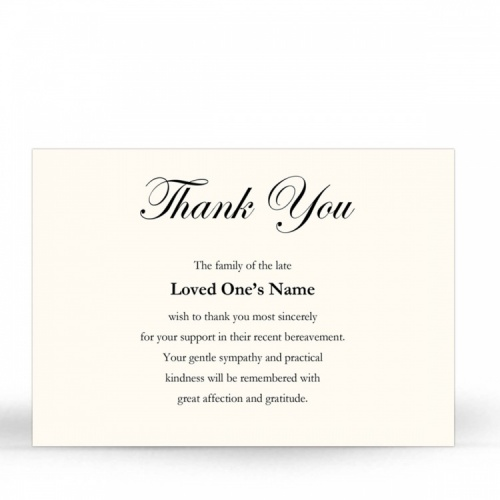 Religious White & Cream In Remembrance Laminated Memorial Thanks Cards UK - CLS07
