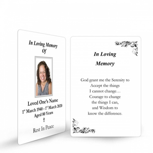 In Loving Memory and In Remembrance Laminated Irish Memorial Wallet Cards UK - CLS10