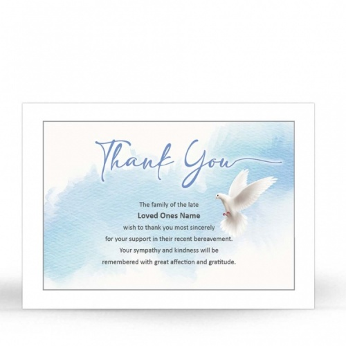 CRS08 Memorial Thank You Card