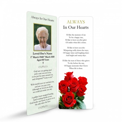 FLW04 Memorial Bookmark