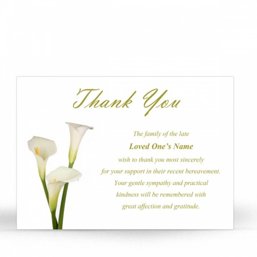 FLW05 Memorial Thank You Card