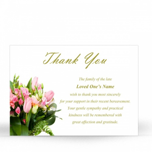 FLW06 Memorial Thank You Card