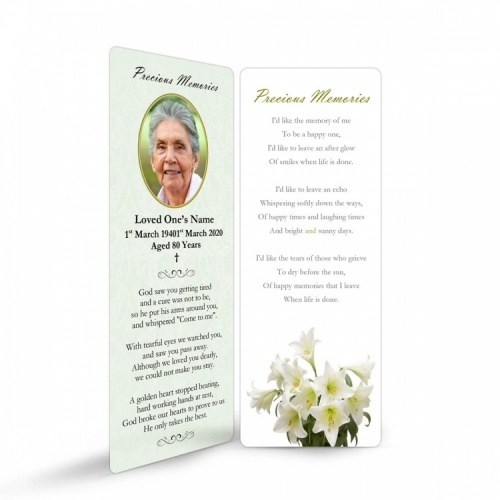 FLW07 Memorial Bookmark