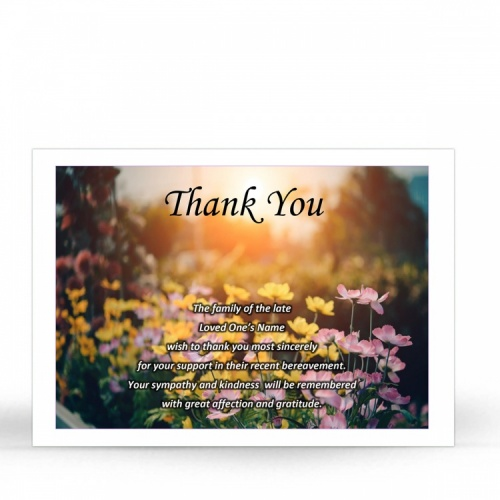 FLW104 Memorial Thank You Card