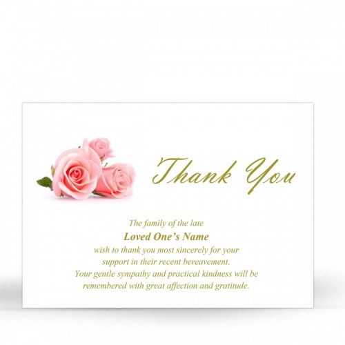 FLW111 Memorial Thank You Card