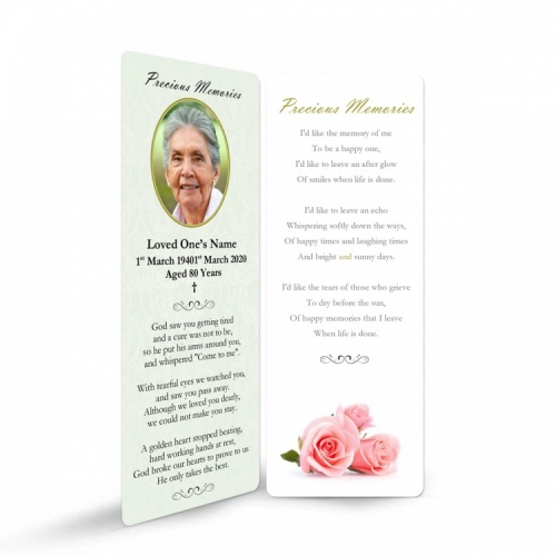 FLW111 Memorial Bookmark