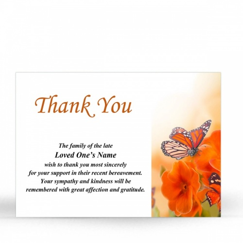 FLW117 Memorial Thank You Card