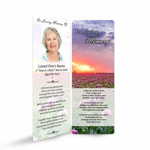 Funeral Bookmarkers