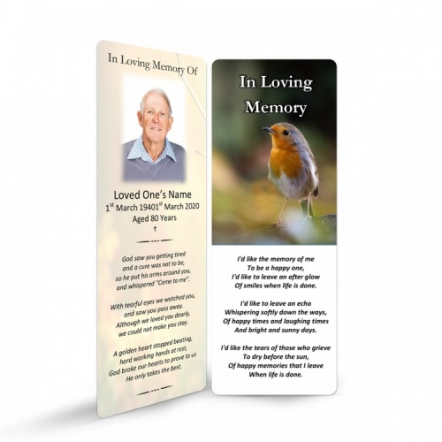 FLW124 Memorial Bookmark
