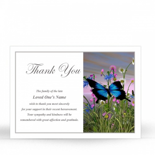 FLW125 Memorial Thank You Card