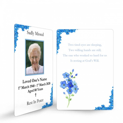 Beautiful Gloss Laminated Prayer Card