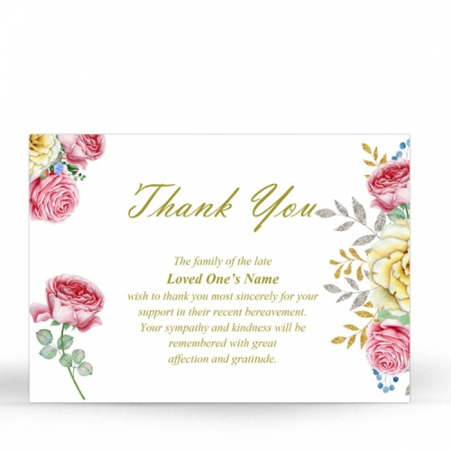 FLW16 Memorial Thank You Card