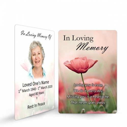 In Loving Memory Memorial Holy Cards