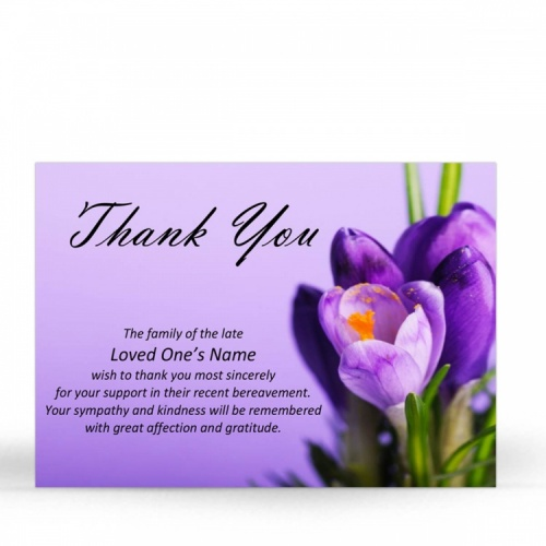 FLW63 Memorial Thank You Card