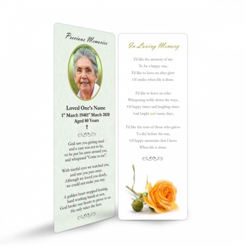 FLW69 Memorial Bookmark