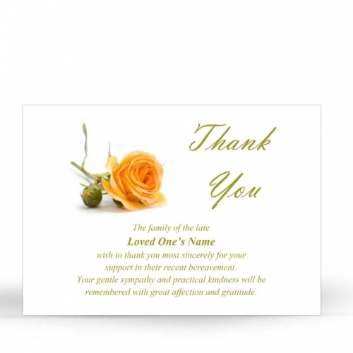 FLW69 Memorial Thank You Card