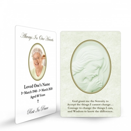 Lord Jesus Christ Catholic In Memory Laminated Prayer Wallet Card - JC06