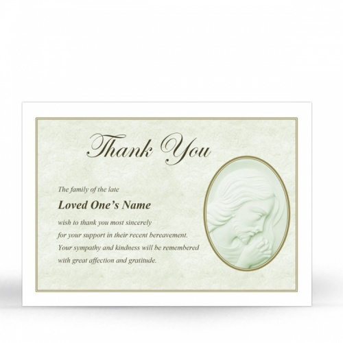 Lord Jesus Christ Catholic In Memory Acknowledgement Card - JC06