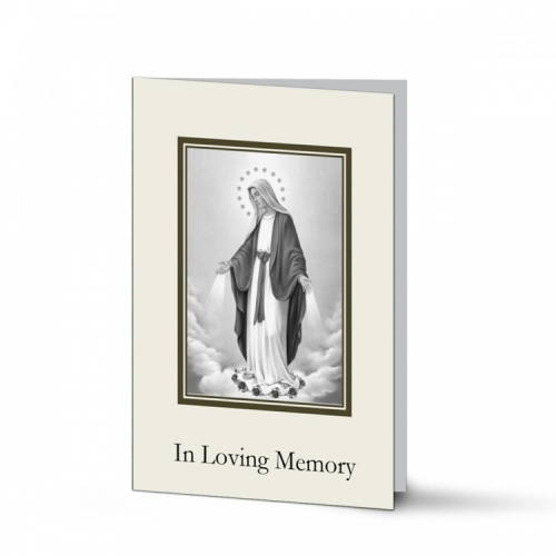 Blessed Virgin Mary Immaculate Conception Funeral Memorial Laminated Folding Memorial Card - MAR45
