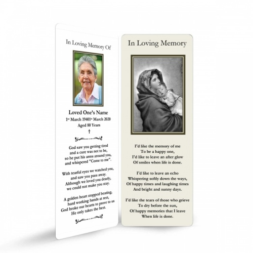 MARY46 Memorial Bookmark