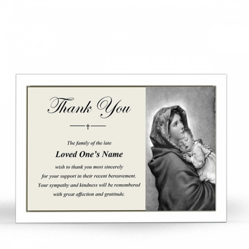 MARY46 Memorial Thank You Card