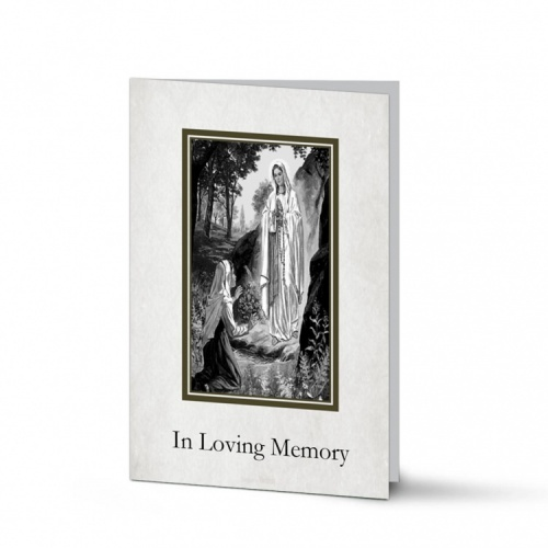 Our Blessed Lady Of Lourdes Catholic Irish Customised Memorial Cards Laminated- MAR51