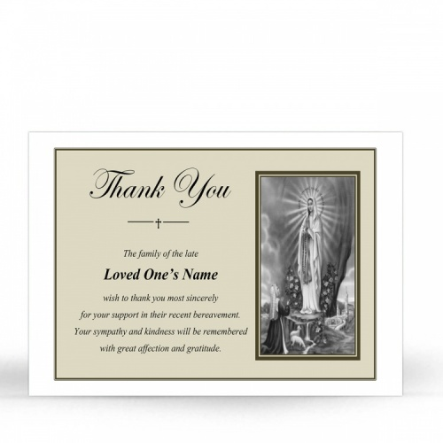 MARY51 Memorial Thank You Card