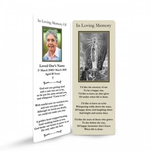 MARY51 Memorial Bookmark