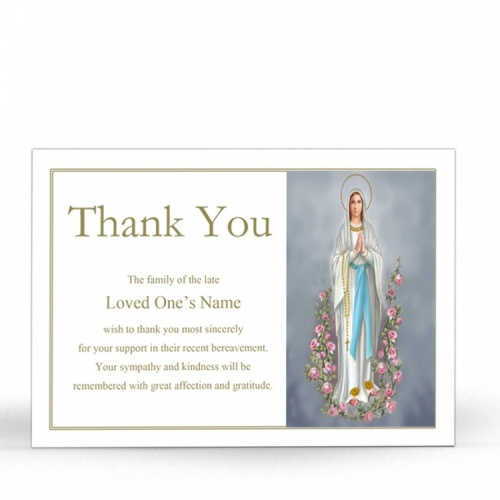 MARY52 Memorial Thank You Card