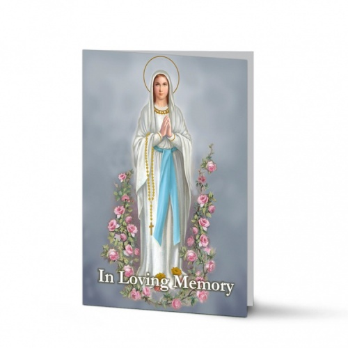 Blessed Mary Religious Catholic Irish Holy Laminated Folding Memorial Card - MAR52