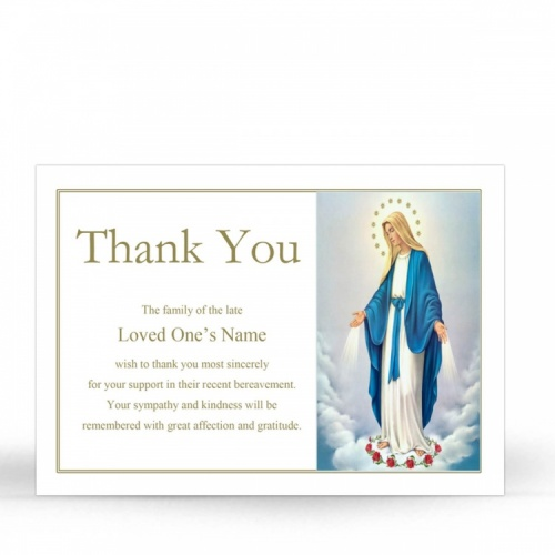 MAR01 Memorial Thank You Card