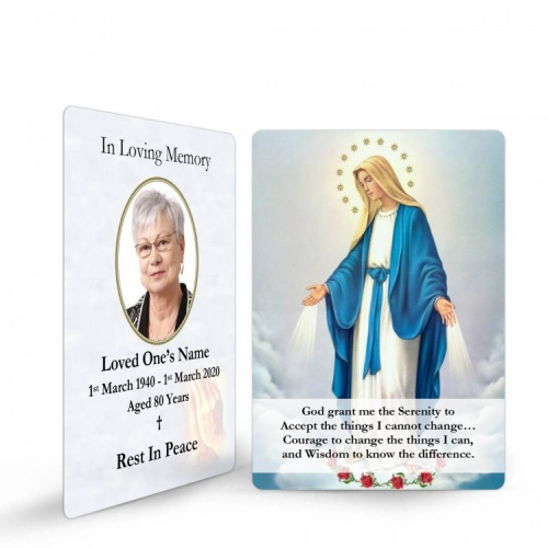 Blessed Virgin Mary Immaculate Conception Catholic Memorial Laminated Prayer Wallet Card - MAR01