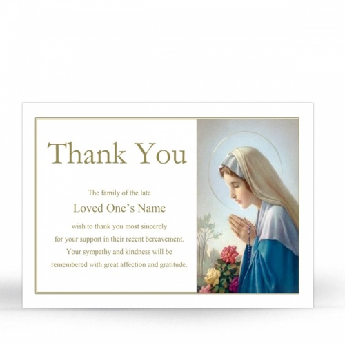 MAR07 Memorial Thank You Card