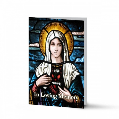Our Lady Blessed Virgin Mary Religious Catholic Condolence Memorial Card - MAR12