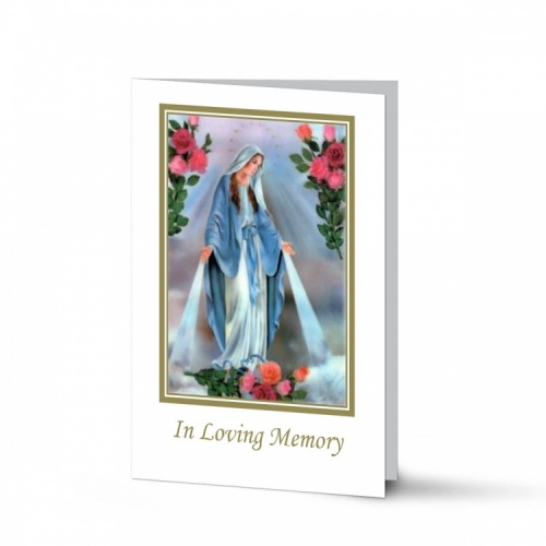 Blessed Virgin Mary Immaculate Conception Online Memorial Laminated Folding Memorial Card - MAR14