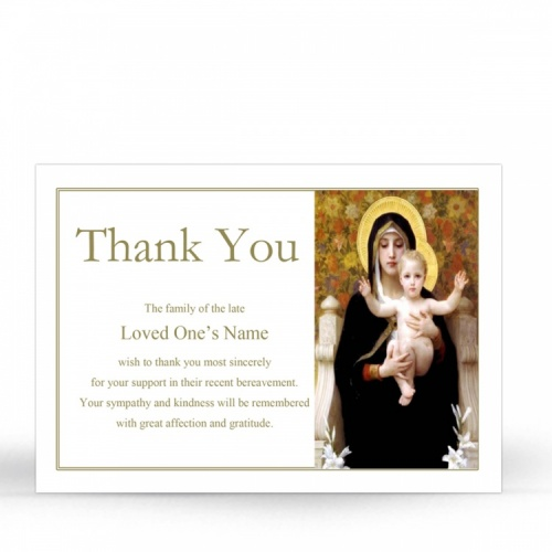 MAR15 Memorial Thank You Card