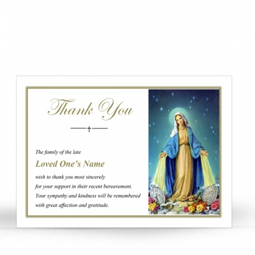 MAR16 Memorial Thank You Card