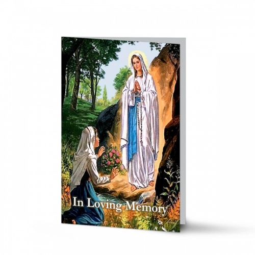 Our Blessed Lady Of Lourdes Laminated Catholic Irish Memorial Cards - MAR18