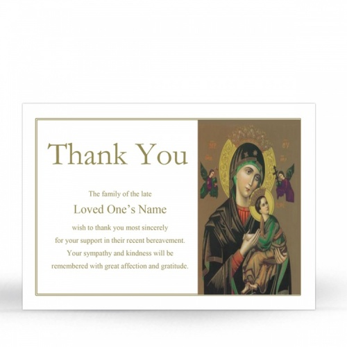 Our Lady Of Knock In Memorium Laminated Memorial Bookmarks Catholic - MAR21